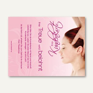 officio Kundenkarte KOPF, 110 x 85 mm, Klappkarte, zum Stempeln, 50 Stück