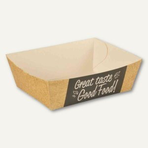 "Papstar Pommes-Frites-Trays, Pappe ""pure"", 3.5 x 7 x 12 cm, 750 Stück, 85818"