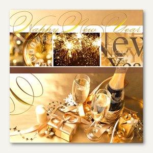 Motivservietten Happy New Year