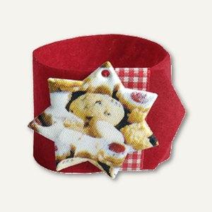 "Papstar Serviettenringe ""Cookies"", Ø 4 cm, rot, 24 Stück, 85106"