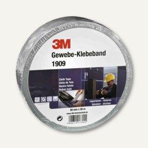 3M Gewebe-Klebeband 1909, 50 mm x 50 m, wetterfest, silber, 1909SI50