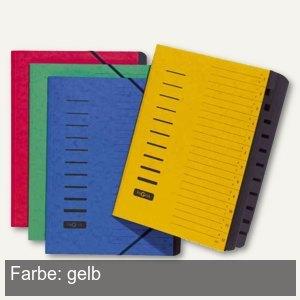 Pagna Ordnungsmappe, DIN A4, 12-teilig, 1-12 & A-Z, Karton, gelb, 24122-05