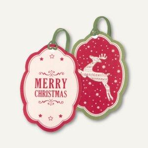 Weihnachtliche Geschenkanhänger HIRSCH