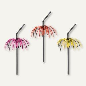 Artikelbild: Deko-Trinkhalme Feuerwerk flexibel