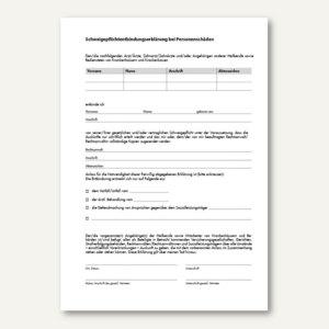 Formular Entbindung Schweigepflicht - DIN A4