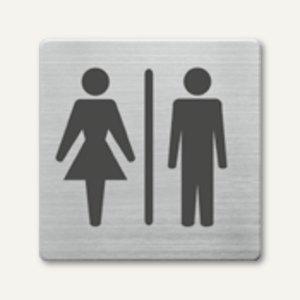 quadratische Piktogramme WC Damen und Herren