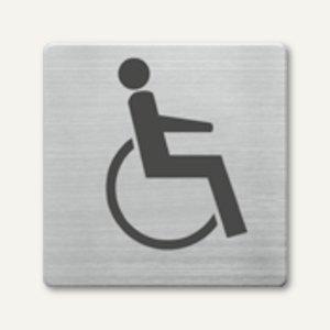 quadratische Piktogramme WC Behinderte