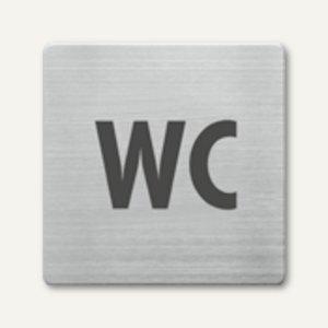 quadratische Piktogramme WC