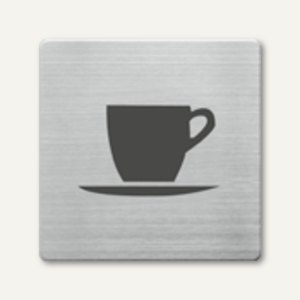 quadratische Piktogramme Cafeteria