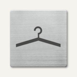 quadratische Piktogramme Garderobe