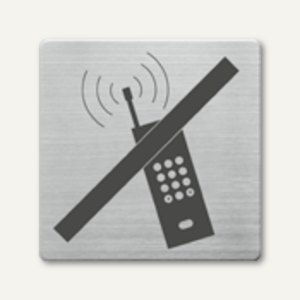 quadratische Piktogramme Handy nein