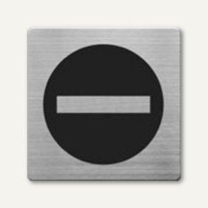 quadratische Piktogramme Durchgang verboten