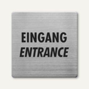 quadratische Piktogramme Eingang