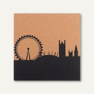 Artikelbild: Korktafel bedruckt mit London Skyline