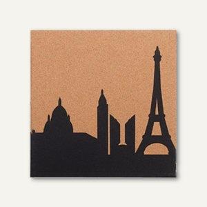 Korktafel bedruckt mit Paris Skyline