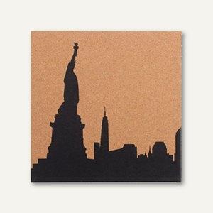 Artikelbild: Korktafel bedruckt mit New York Skyline
