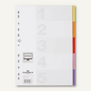 Kunststoff-Register VARICOLOR DIN A4