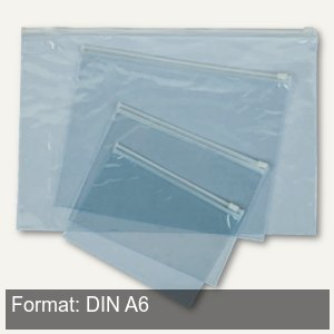 Gleitverschluss-Tasche Clear bag DIN A6
