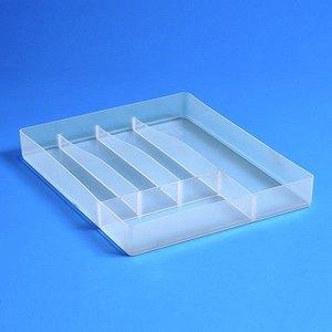 Kleinteilbox Besteck-Einsatz mit 5 Besteckfächern