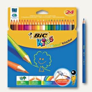 BIC Buntstift KIDS ECOlutions EVOLUTION, sortiert, 24 Stück, 829733