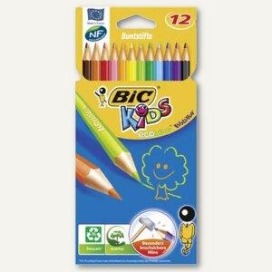 BIC Buntstift KIDS ECOlutions EVOLUTION, sortiert, 12 Stück, 907832
