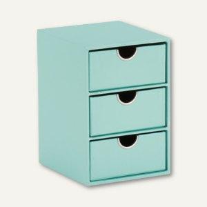 3er Schubladenbox GARDEN - MINT