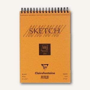 Clairefontaine Skizzenblock, DIN A4, 90 g/m², Doppelspirale, 100 Blatt, 96604C