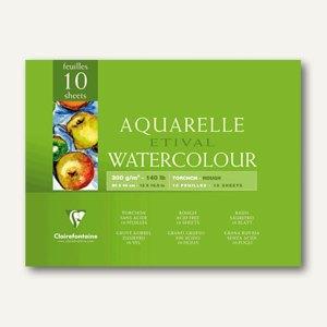Clairefontaine Etival Aquarellblock, 30 x 40 cm, rauh, 250 g/m², 10 Blatt,96562C