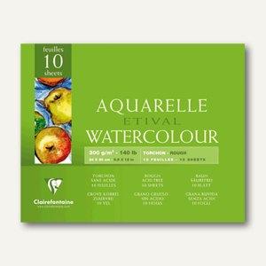 Clairefontaine Etival Aquarellblock, 24 x 30 cm, rauh, 250 g/m², 10 Blatt,96561C