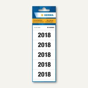 Ordner-Inhaltsschild Jahreszahlen 2018