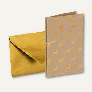 Artikelbild: GOLDEN REINDEER Doppel-Karte B6 + Umschlag DIN B6