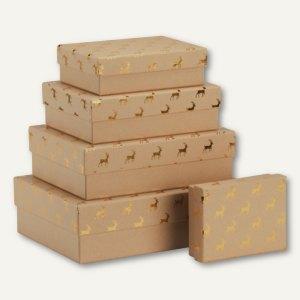 Aufbewahrungs-/Geschenkbox GOLDEN REINDEER