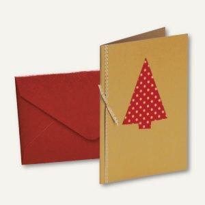 MERRY CHRISTMAS Doppel-Karte + Umschlag DIN B6