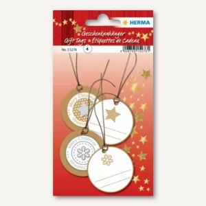 Artikelbild: 3D Weihnachts-Geschenkanhänger gold