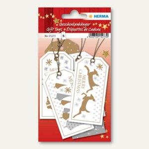 Artikelbild: 3D Weihnachts-Geschenkanhänger Merry Christmas