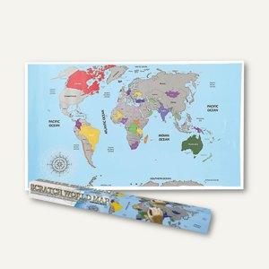 Artikelbild: Weltkarte zum Freirubbeln - 88 x 52 cm