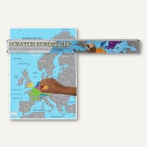 Artikelbild: Europakarte zum Freirubbeln - 86 x 63 cm