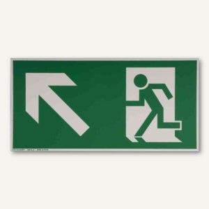 Artikelbild: Hinweisschild Rettungsweg - links aufwärts