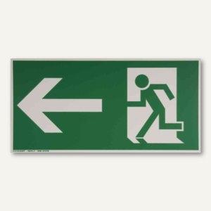 Artikelbild: Hinweisschild Rettungsweg - links gerade