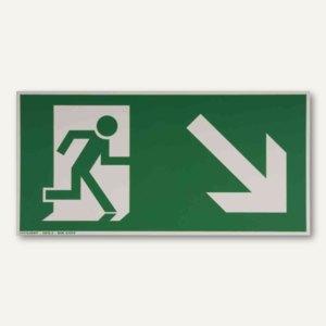Artikelbild: Hinweisschild Rettungsweg - rechts abwärts