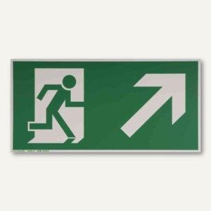 Artikelbild: Hinweisschild Rettungsweg - rechts aufwärts