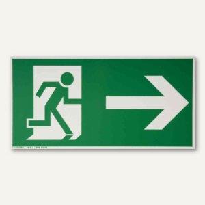 Artikelbild: Hinweisschild Rettungsweg - rechts gerade