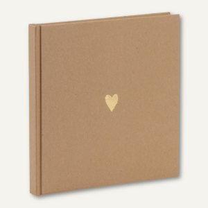 Artikelbild: PURE LOVE gebundenes Gästebuch HERZ