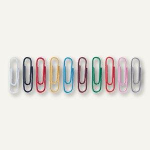 Alco Briefklammern, L 26 mm, rund, farbig sortiert, 1.000 Stück, 259-26