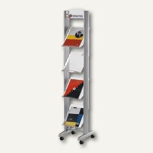 Paperflow Mobiler Prospektständer Clear Line S, 4 Auflagen, Acryl, 256TT.35