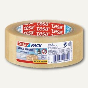 Tesa Packband PVC, 38 mm x 66 m, klar, 57174