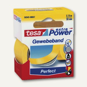 "Tesa Gewebeband ""extra Power PERFECT"", 38 mm x 2.75 m, gelb, 56343-00037-03"