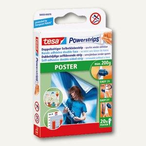Tesa Powerstrips Poster, spurlos ablösbar, 20er Pack, 58003-00079