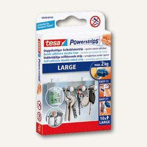 Tesa Powerstrips LARGE, bis 2 kg, 10er Pack, 58000-00102