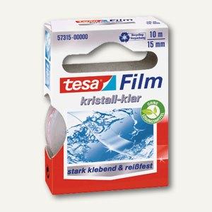 Tesa Film kristall-klar, 10 m x 15 mm, PP, reißfest, 57315-00000